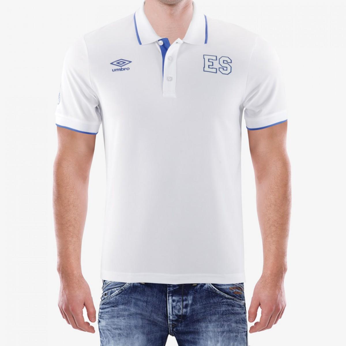 57fee2b69ab9f Camisa Polo Blanca Umbro